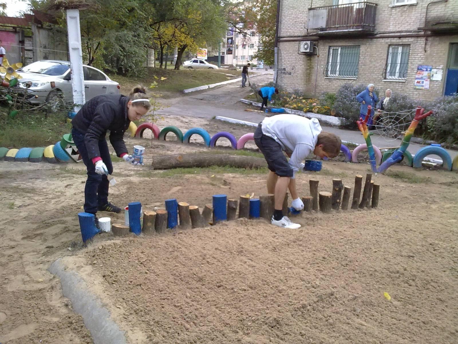 Детская площадка своими руками : фото-идеи